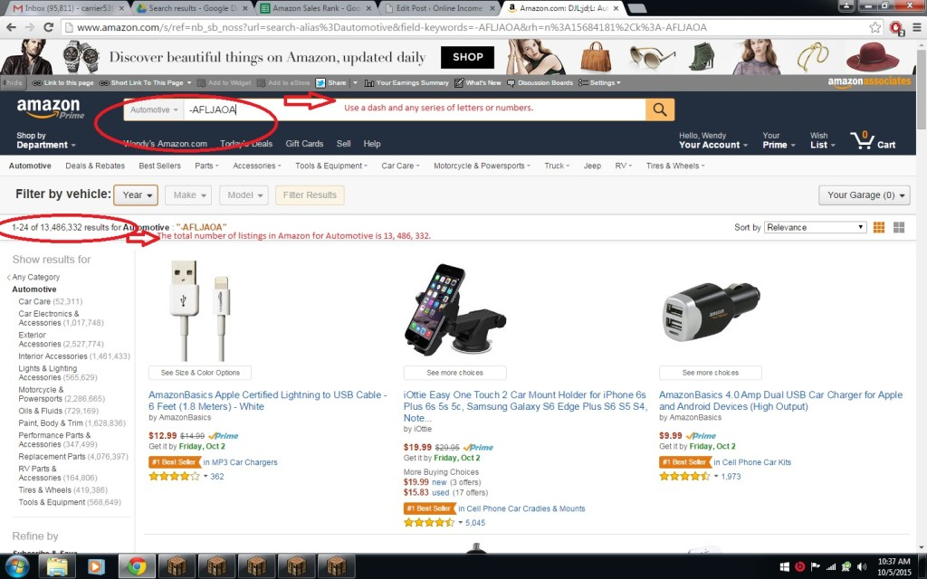 Finding sales rank in amazon